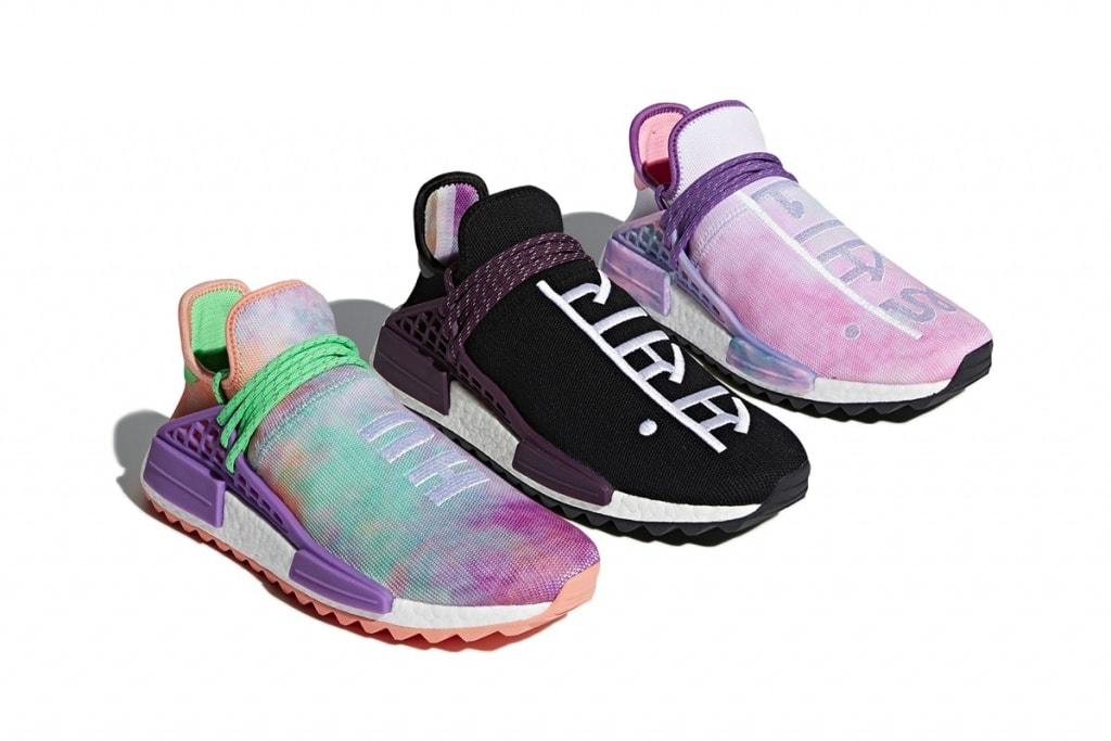 Pharrell x adidas NMD Hu Trail Holi Pink Glow