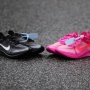"""OFF-WHITE x Nike Zoom Fly """"Black/White/Cone"""" and """"Tulip Pink/Racer Pink"""""""