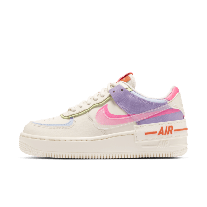 Nike Air Force 1 Shadow white and pink sneakers in 2020