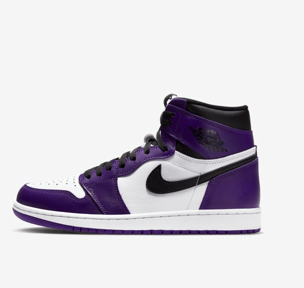 nike aj1 court purple