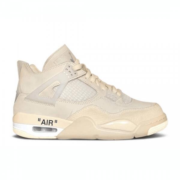 """Off-White x Nike Air Jordan 4 """"Sail"""""""